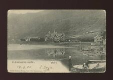 Norway VOSS Fleischers Hotel Used 1905 u/b PPC corner faults