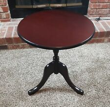 Solid Cherry Wood Lamp End Table Pedestal