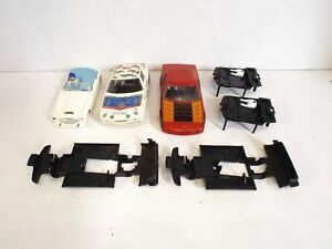 SCALEXTRIC SLOT CAR TR7 SPARE PARTS BODYS INTERIORS ETC  (L21)