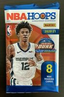 2020-21 Panini NBA Hoops Blaster ONE SEALED PACK (8 CARDS) - JA MORANT/ZION