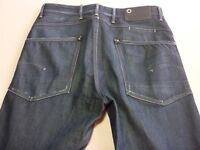 036 MENS EX-COND G-STAR RAW JACK LOOSE TAPERED DK BLUE JEANS 33 / 34 L $230 RRP.