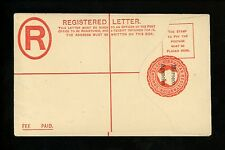 Postal Stationery H&G #RC4 Great Britain / Morocco registered envelope 1898