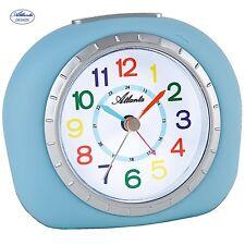 Atlanta 1966/5 Despertador Para Niños Azul Claro Silencioso SIN Tic Tac