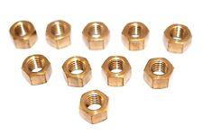 Brass Manifold Nuts Qty 10 M10 x 1.5mm Inlet Car Van Exhaust Nut BN10