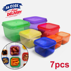 7 Piece Perfect Portions Kit Diet Meal Leak Proof Portion Control Containers