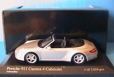 PORSCHE 911 CARRERA 4S CABRIOLET MINICHAMPS 1/43 SILVER