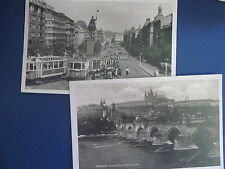 Two Real Photo Post Cards of Prague, 1920s
