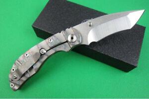 Y-START New D2 Steel Blade Titanium Handle Camping knife Pocket Folding Knife-07