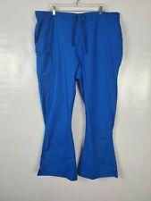 Wonderwink Womens Scrub Pants plus Size 3X Blue Wonderflex Pull On Drawstring