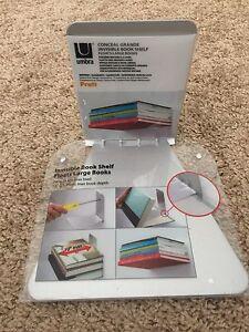 Umbra Conceal Floating Bookshelf, Large, Silver