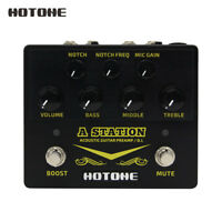 Hotone A Station Acoustic Preamp DI Box Guitar Microphone Guitar Effects Pedal
