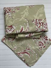 Pottery Barn Bed+Bath Duvet & Sham RENAISSANCE SCROLL Clay Red Green Floral Qu