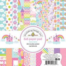 "Fairy Tales Paper Pad 6"" x 6"" Double-Sided Cardstock, Unicorn Rainbow Cardmaking"