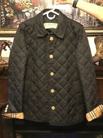 BURBERRY FRANKBY QUILTED JACKET WOMENS XL ~BLACK~