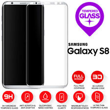 Samsung Galaxy S8 3D Full Curved Tempered Glass LCD Screen Protection Silver