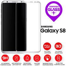 Samsung Galaxy S8 3D completo curvo de plata de Protección de pantalla LCD de vidrio templado