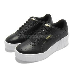 Puma Cali Wedge Wns Black White Women Platform Casual Lifestyle Shoes 373438-02