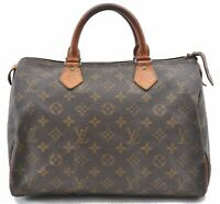 Authentic Louis Vuitton Monogram Speedy 30 Hand Bag Old Model LV B0062