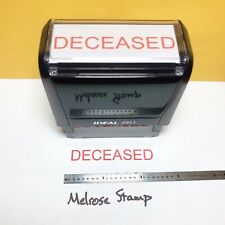 New Listingdeceased Rubber Stamp Red Ink Self Inking Ideal 4913