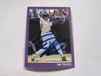 Tim Teufel Autographed Baseball Trading Card 3