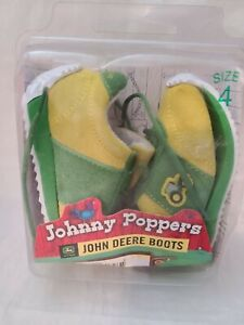 JOHNNY POPPERS JOHN DEERE YELLOW/GREEN LEATHER INFANT TODDLER JD0392