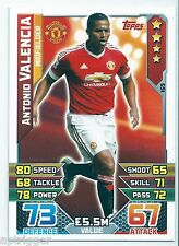 2015 / 2016 EPL Match Attax Base Card (169) Antonio VALENCIA Manchester United