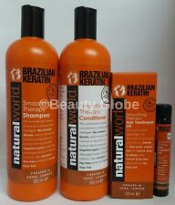 Natural World Hair Treatment Oil Brazilian Keratin Smoothing Therapy100ml
