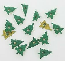 Scrapbooking Eyelets Green Tree Christmas Embossed Holiday 15 pieces Stamping