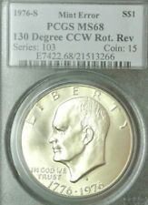 1976-S PCGS MS68 130 Degree CCW Rotated Reverse Major Ike Dollar Error ~Wowzer!~