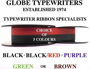 🌎 1 x 'OLIVER COURIER' HIGH QUALITY TYPEWRITER RIBBON **CHOICE OF 5 COLOURS**