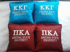 College Lettered Cornhole bags Custom Embroidered
