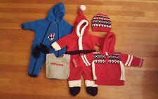 Baby Boy 0/6 Months Christmas Lot: Santa Suit, Bunting, Sweater, Hat, Shoes, Bib