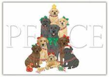 Ten Cards Pack Labrador Retriever Peace Dog Breed Christmas Cards Usa made