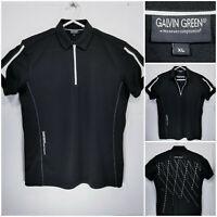 Galvin Green Comfort Technology Mens XL Golf Shirt Polo Black Shear Bits