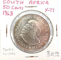 .HIGH GRADE 1963 SOUTH AFRICA 50 CENTS. 50% SILVER