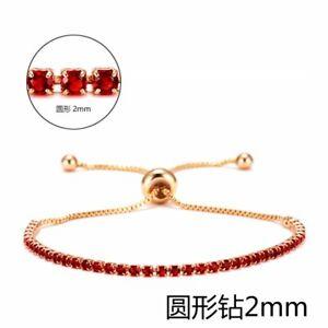 Wedding Bride Women Gold Adjustable Chain Bracelet Bangle Cuff Jewelry Gifts