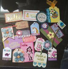 20 Handmade Scrapbooking Cardmaking Junk Journaling EMBELLISHMENTS - Lot #3