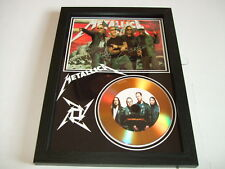 METALLICA  SIGNED GOLD CD  DISC  211