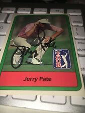 Jerry Pate Signed 1982 Golf Card