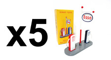 Set of 5 Gas Pump Esso DINKY TOYS 1:43 MIB Gas Station DIECAST MODEL CAR 49D