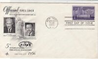 United States 1956 5th Int. Philatelic Exhib. Official FDC Stamps Cover 22229