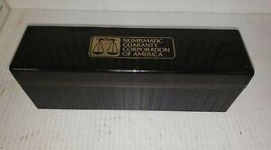 vintage black ngc slab box - holds old holder fatty ngc certified coins