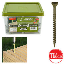 TiMco Deck Decking Screws Green C2 Index Fencing Exterior Woodscrew 4.5 x 50mm