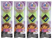 (4) Dora the Explorer Glow Stick Necklace Party Favor Glow in the Dark Toy