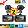 2x LCD Car DVR Vehicle Camera Dash Cam Video Recorder G-sensor Night Vision