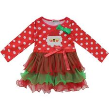 Christmas Santa Claus Baby Kids Girl Tutu Dress Tops Toddler Tulle Skirt Clothes
