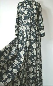 Zara button fronted floral maxi shirt dress size medium 10-12  worn once