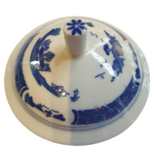 Replacement Blue and White Lid for Chinese Tea Mug GC003