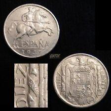 *GUTSE* FRANCO-1052, 10 CÉNTIMOS 1941, PLVS con V, ESCASA, EBC+