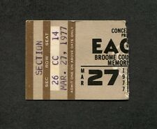 1977 Eagles Jimmy Buffett Concert Ticket Stub Binghamton Hotel California Tour